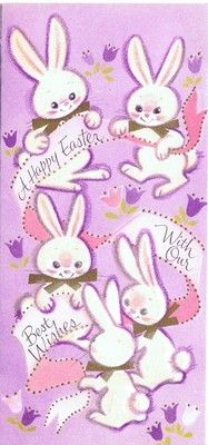 Happy Easter with our best wishes! #bunnies #rabbits #vintage #Easter #cards