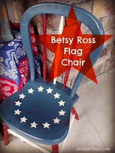 Flag Chair in Aubusson Blue, Old White and Emperor's Silk chalk paint