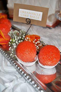 Dreamsicle Cake Balls