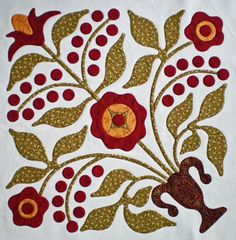 Tutorial on machine applique that looks like it's been done by hand.