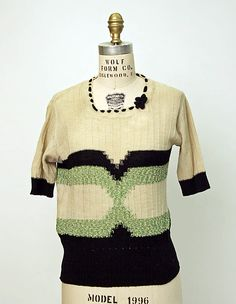Sweater, 1920s, American, wool