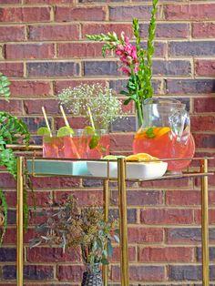 Blogger Challenge: Colorful, Vintage-Style Bar Cart (http://blog.hgtv.com/design/2014/03/25/blogger-challenge-colorful-vintage-style-bar-cart/?soc=pinterest)