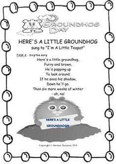 Groundhog Day - Reading and Crafts- Internet Task - 6 Elementary tasks