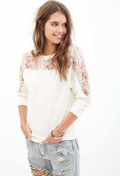 Paneled Lace Pullover #F21StatementPiece