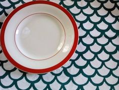 fish scales...table cloth