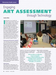 Engaging Art Assessment through Technology #Elementary #ArtLesson #ArtEd #ArtEducation #ArtAssessment #Assessment #Technology