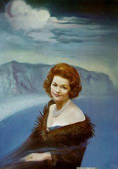 Portrait of Mrs. Ruth Daponte, 1965  Salvador Dali
