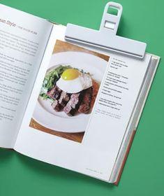 bag clip as cookbook place holder