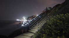 Light Goes On: A New Light Painting Stop Motion Video About a Skateboarding Skeleton by Darren Pearson stop motion light painting animation ...