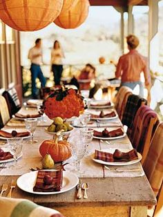 Blissique: Easy Fall Centerpieces