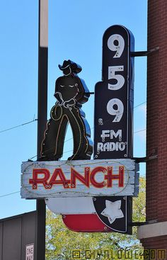 vintage fort worth neon signs | sign fort worth texas the ranch radio neon sign in downtown fort worth ...
