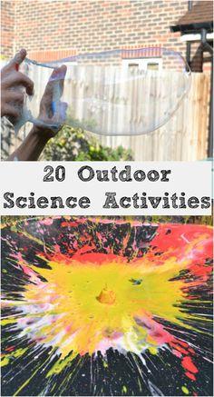 20 fantastic outdoor science activity ideas #Science #funoutdoors