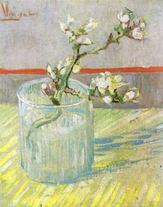 Vincent Van Gogh  Blossoming Almond Branch in a Glass, 1888, oil on canvas, the Van Gogh Museum, Amsterdam.