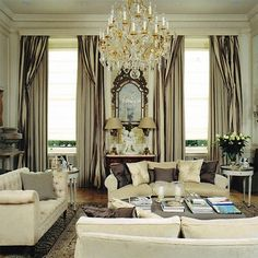 Elegant living room. Love the placid color scheme