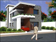 6 Bedrooms Duplex House Design in 208m2 (8m X 26m).  Duplex House Designs at ApnaGhar.co.in combines beauty, spaciousness, energy efficiency, convenient designs. ApnaGhar.co.in designs duplex homes that offer a wide range of options, like fireplaces, built-ins and more.  Like, share, comment. click this link to view more details - http://www.apnaghar.co.in/house-design-406.aspx