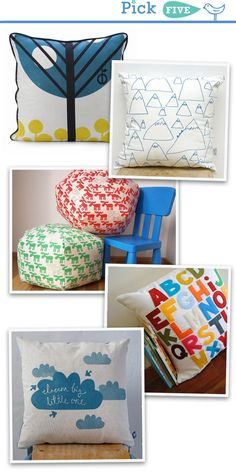 All of these pillows are great for a little boys room