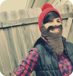 so funny! Lumberjack hat!