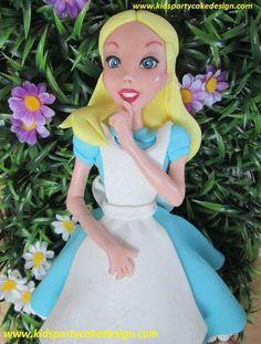 Alice in wonderland, cake topper