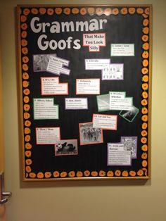 """""""Grammar Goofs"""" bulletin board October 2013 KRNC"""