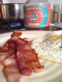 Bacon and Bhakti. What else do you need to start your day?