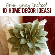 Bring Springtime Indoors with these beautiful home decor ideas! #sewing #wallart #bunting #florals