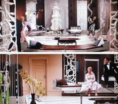 Auntie Mame's Post Modern? apartment, by the famous Danish deisgner, Yuul Ulu...