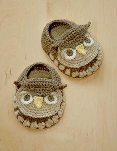 Owl Baby Booties #crochet #pattern  @Nina Gonzalez Gonzalez Gonzalez Gonzalez Gonzalez Morrell
