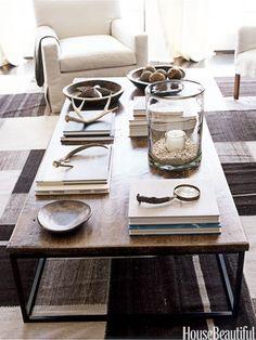 Natural elements. Design: Robert Stilin. housebeautiful.com. #coffee_table