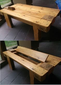 Another pallet Coffee table #Coffee, #Oneofakind, #Pallet, #Table, #Upcycled