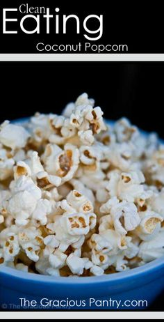 Coconut Popcorn #CleanEating