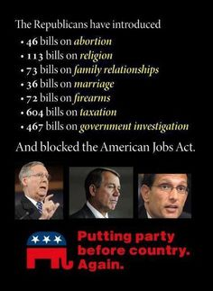 Republican Priorities...