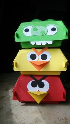 Hamburgerbox Stampin`Up! Angry Birds  http://feengarndesign.wordpress.com/2014/06/06/angry-birds-hamburger-box/