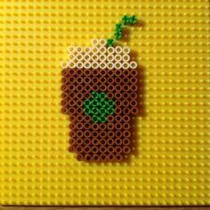 Coffee hama peler beads by perlerqueen