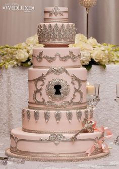 Key & Lock Wedding Cake