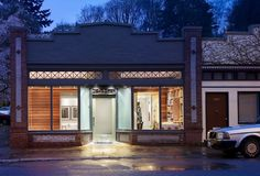 Modern storefront looks good with cedar panels on the interior. Storefront Remodeled Into Live Work Place With Modern Interior Design