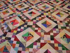 Scrappy Quilt show - Right Here!! :)  I think this is Jacob's Ladder block