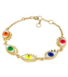 Delfina Delettrez Neon Cartoon Eye Bracelet