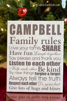 Giving The Perfect Personalized Gifts - Family Rules Canvas #PCHoliday (newlywed gift idea!)