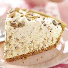Frosty Toffee Bits Pie- A 5 star recipe with 5 star flavor.  Easy and no bake.  Be prepared as you will be asked for the recipe.