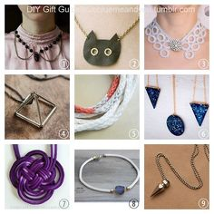 2013 True Blue Me & You DIY Gift Guide: Necklaces Part 2.  #diy #crafts #diy_necklaces #necklace_tutorial #roundup_diy_necklaces