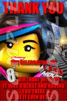 birthday parti, envelopes, movi 4x6, birthday invit, movi person, kid parti, parti suppli, lego movi, person birthday
