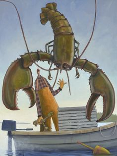 """""""Short"""" by David Witbeck.  48"""" x 36"""" Oil on Canvas.  Available at Maine Art Paintings & Sculpture."""