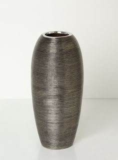 Pewter textured vase