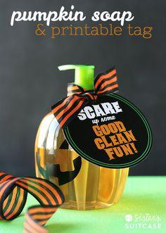 Pumpkin Soap Gift + Printable Tag
