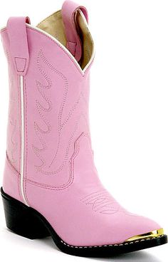 Pink & black cowgirl boots