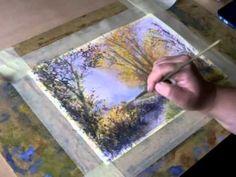 Edyta Nadolska - watercolor painting demo / part 3 Working on the details