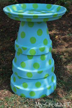 DIY-Terracotta Birdbath.../