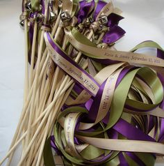 Wedding wands with bells