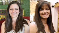Beautiful hair makeover (new bangs!) courteous of Rolf's Salon and Spa - Scottsdale, AZ