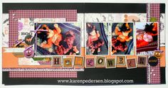 October Play Group Scrappin' Class Layouts (Scaredy Cat)